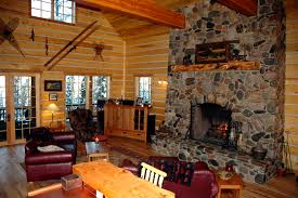 cabin living room decor log cabin living room with fireplace images loversiq
