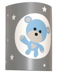 applique murale chambre bébé applique chambre bébé ourson gris bleu fabrique casse noisette