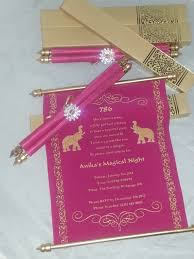 Sweet 15 Invitation Cards Decorative Scroll Invitation With Rhinestone Decoration Set Of 25