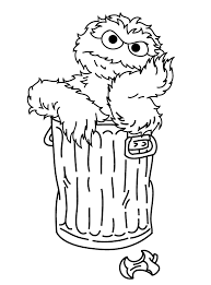 oscar the grouch daydream sesame street coloring pages u2013 pilular