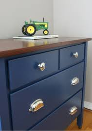 Tool Box Dresser Ideas by Navy Blue Dresser With Wood Stained Top Dresser Room And Bedrooms