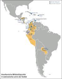 Guantanamo Bay Map Militärstützpunkte Der Vereinigten Staaten In Lateinamerika Und In