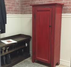 Kitchen Cabinets Made To Order Red Hutch Distressed Cabinet Kitchen Storage Primitive