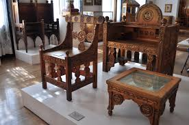 Wooden Furnitures Sofa File Maryhill Museum Gilded Wood Furniture From Cotroceni Palace