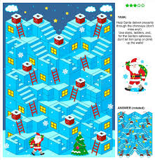 deliver presents santa deliver presents 3d christmas or new year maze stock