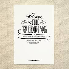 Wedding Program Order Diy Wedding Program Order Of Service Handlettered Idealpin