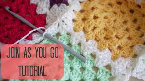 how to join crochet squares completely flat zipper method crochet join as you go bella coco youtube