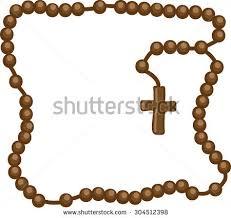catholic rosary necklace holy rosary christian rosary symbol faith stock vector 321107264