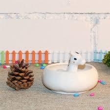 Giraffe Planter Amazon Com Calunce White Ceramic Cute Animal Ornament Succulent