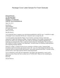 Sample Cover For Resume by Graduate Cover Letter Example Legal Cover Letter Example Qsdlievz