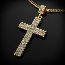 cross chain necklace gold images Cross chain necklace for men andino jewellery jpg