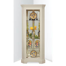 decorating fancy white corner curio cabinets cheap with gorgeous