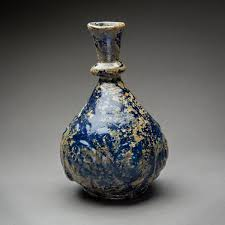 Dark Blue Glass Vase Islamic Dark Blue Glass Vase Barakat Gallery Store