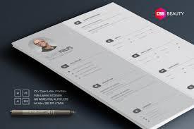 2 column grey modern resume template for word photoshop illustrator