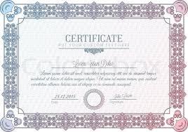 certificate frame certificate frame charter diploma stock vector colourbox