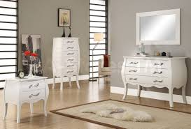 White Bedroom Furniture Sets Maria 4 Pc Contemporary Bedroom Set White 2 256 75