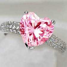engagement rings pink images Yayi fashion women 39 s jewelry ring heart pink zircon cz silver jpg