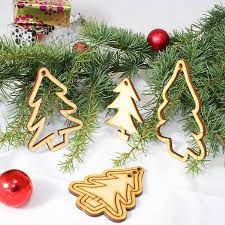 15 laser cut u0027christmas tree u0027 decorations tree decorations