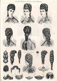 1876 la moda elegante ilustrada peinados y accesorios 1870