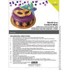 mardi gras cake decorations decopac mardi gras 10 fondant mask cake decorating