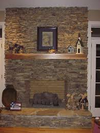 Stacked Stone Around Fireplace by Slate Hearth Stacked Fieldstone Fireplace Fireplaces