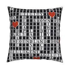 newfoundland dog crossword puzzle fabric dogdaze spoonflower