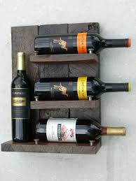 dern rustic hanging wood wine rack exotic by reclaimedtrends picmia