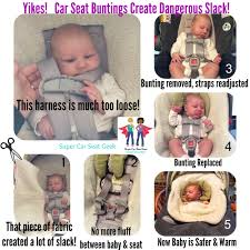 Meme Baby Products - buntings and car seats don t mix super car seat geek