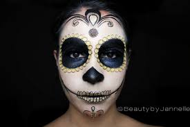 Halloween Makeup Skull by Gold Sugar Skull Halloween Makeup Series Beauty By Jannelle