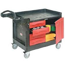 rubbermaid service cart with cabinet trucks carts carts maintenance service rubbermaid 174