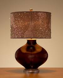 Colored Glass Table Lamps How A Copper Table Lamp Can Change The Ambiance Of A Room