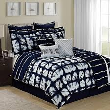 Tie Dye Bed Set Tie Dye Reversible 12 Comforter Set In Navy White Bed Bath