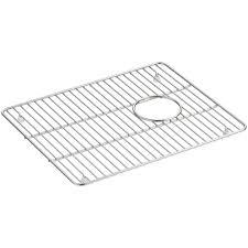 Kitchen Sink Protector Grid Kohler Brookfield 14 7 8 In X 12 7 8 In Sink Basin Rack For K