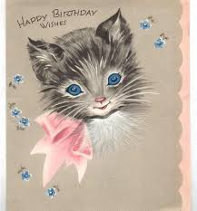 card invitation design ideas cute vintage kitty cat birthday