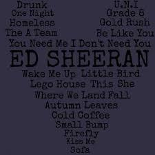 ed sheeran lyrics quotes ed sheeran lyrics quote women s t shirt customon com