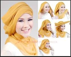tutorial hijab syar i untuk pengantin tutorial hijab untuk kebaya pesta hijab style 6