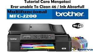 brother printer mfc j220 resetter brother printer j 200 reset purge counter youtube