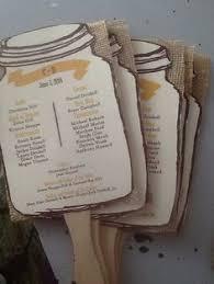 jar wedding programs rustic wood orange gerber vertical wedding programs rustic