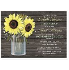 rustic invitations sunflower wood jar bridal shower invitations at artistically