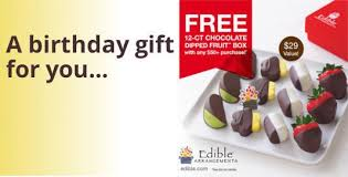 edible birthday gifts free birthday gift from edible arrangements i crave free stuff