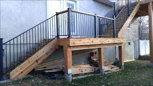 metal landing banister and railing deck stairs with landing forexlife club