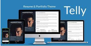 Resume Portfolio Template 65 Best Html5 Resume Templates 2017