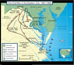 East United States Map by Map Of The Seat Of The American Civil War 1861 1865 Full Size