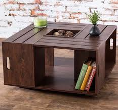 crate coffee table for a fun living room design
