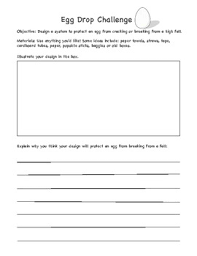 Challenge Drop Egg Drop Challenge Planning Sheet By Buggyandbuddy Tpt