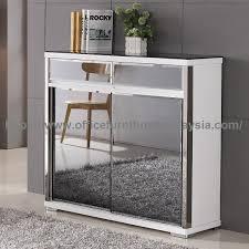 white glass storage cabinet contemporary white shoe storage cabinet with glass mirror rak kasut