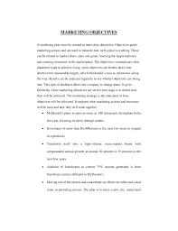mcdonalds job description resume effectivity of marketing strategies adoped by mcdonalds in banalore c u2026