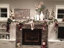 Simple Christmas Home Decorating Ideas by Mantel Enchanting Fireplace Mantel Decor For Lovely Home