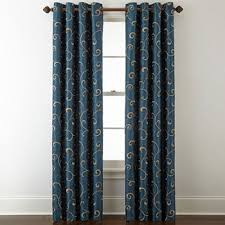 royal blue bedroom curtains blue curtains drapes for window jcpenney