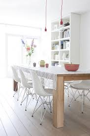 White Plastic Dining Chair Eames Chair Table Dining Room Modern With Plastic Dining Chairs